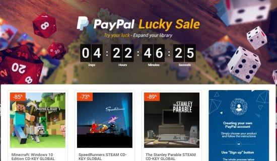 [BON PLAN] Paypal Lucky Sale, des jeux à petit prix